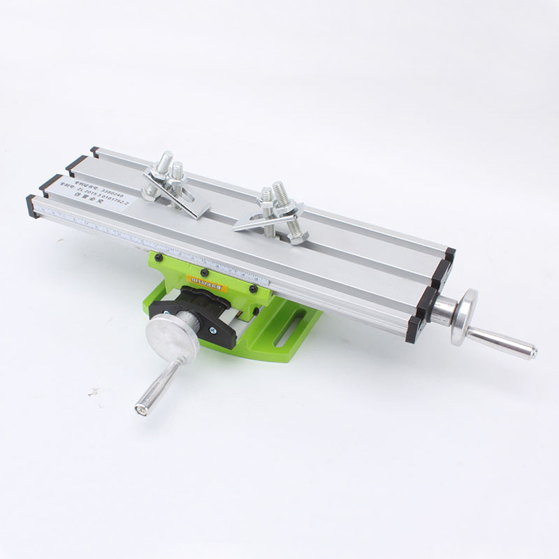 New Miniature precision multifunction Milling Machine Bench drill Vise Fixture worktable X Y-axis adjustment Coordinate table