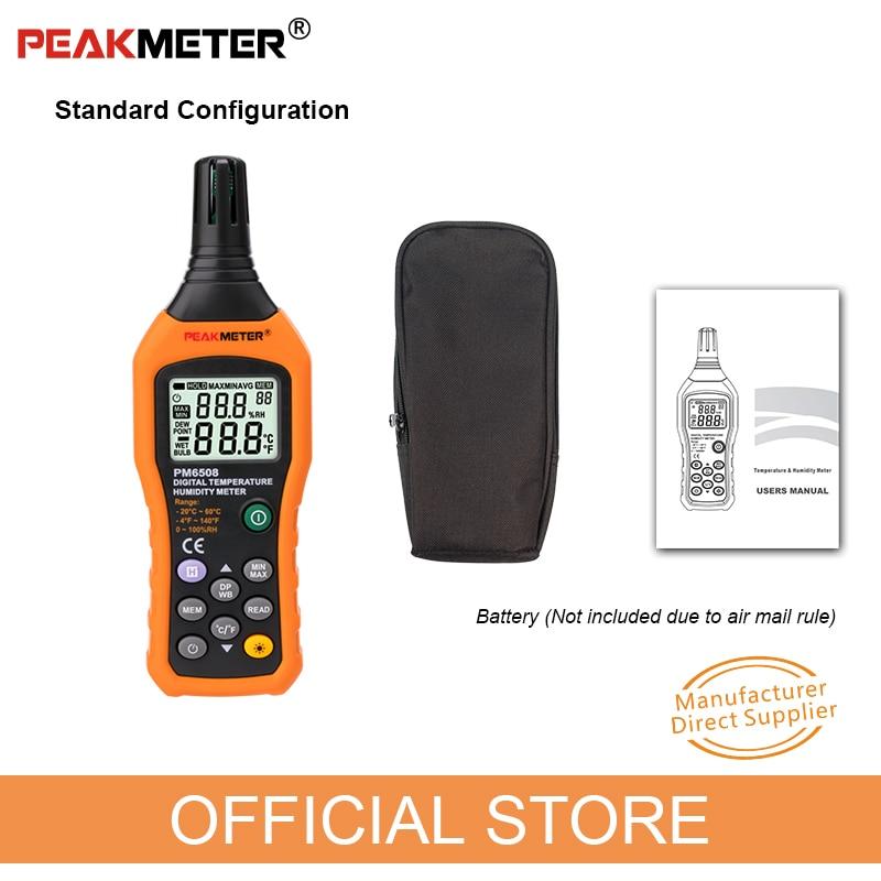 Hivatalos PEAKMETER PM6508 digitális - Mérőműszerek - Fénykép 6