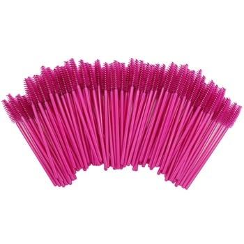 2000 sztuk/paczka jednorazowe mikro pędzle do rzęs szczoteczki do tuszu do rzęs przedłużki do rzęs róża profesjonalny zestaw pędzli do makijażu zestaw narzędzi