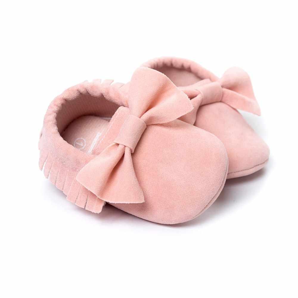 28 Kleuren Romirus Merk Lente Baby Schoenen Pu Leer Pasgeboren Jongens Meisjes Schoenen Babyschoenen Fringe Grote Boog Baby Mocassins