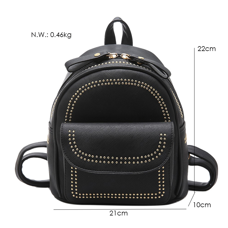 New Design Mini Rivets Backpack For Women Girls 2017 Children School Bag Women Backpack Mochila Escolar Female Rucksack (30)
