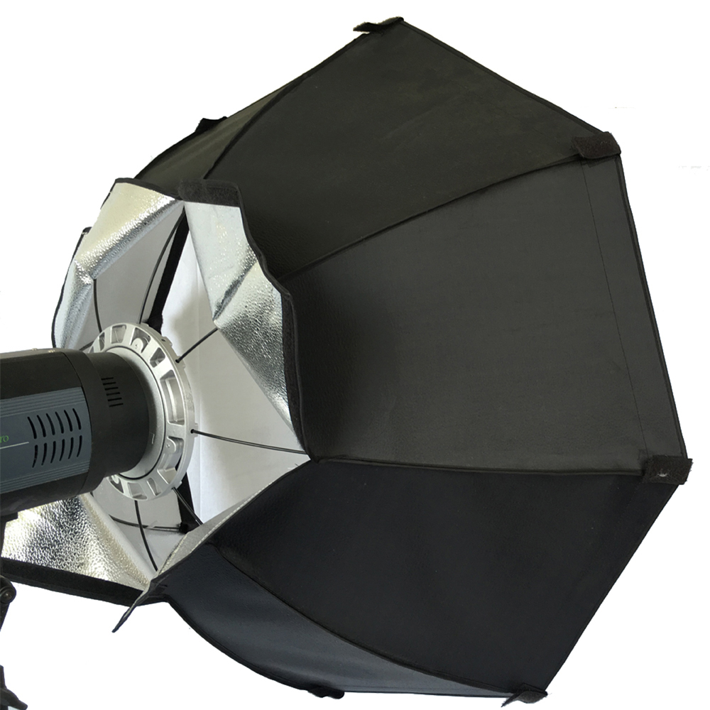 Octagon 8 Pole 60cm White Foldable Beauty Dish Softbox with Bowens Mount for Studio Strobe Flash Light