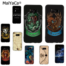 MaiYaCa Gryffindor Hufflepuff Ravenclaw Slytherin Harry Potter phone case for samsung galaxy note 8 s7edge s6 s8 s9 plus coque