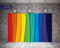 Kate Colorful Window Curtains 10x10ft Background Iridescent 3D Stage Party Wedding Bokeh Photography Backdrops Children Backdrop