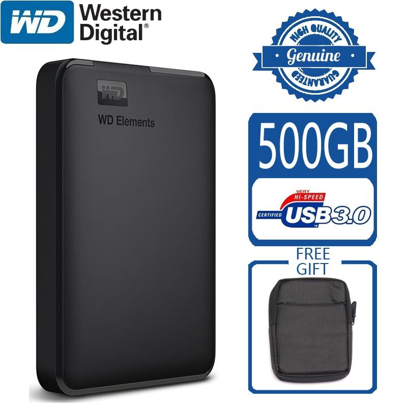 WD Elements 500GB Portable External Hard Drive Disk USB 3 0 HD HDD Capacity SATA Storage