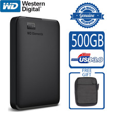 WD elementos 500GB disco duro externo portátil USB 3,0 HD HDD capacidad SATA Dispositivo de almacenamiento Original para ordenador PS4 TV(China)