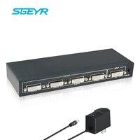 STEYR Dual Link DVI D DVI Splitter 1X4 DVI Distributor 1 Input And 4 DVI Output