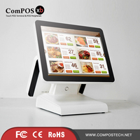 15 Inch Touchscreen Dual Touchscreen Pos-systeem Kassa voor retail pos machine POS1619D