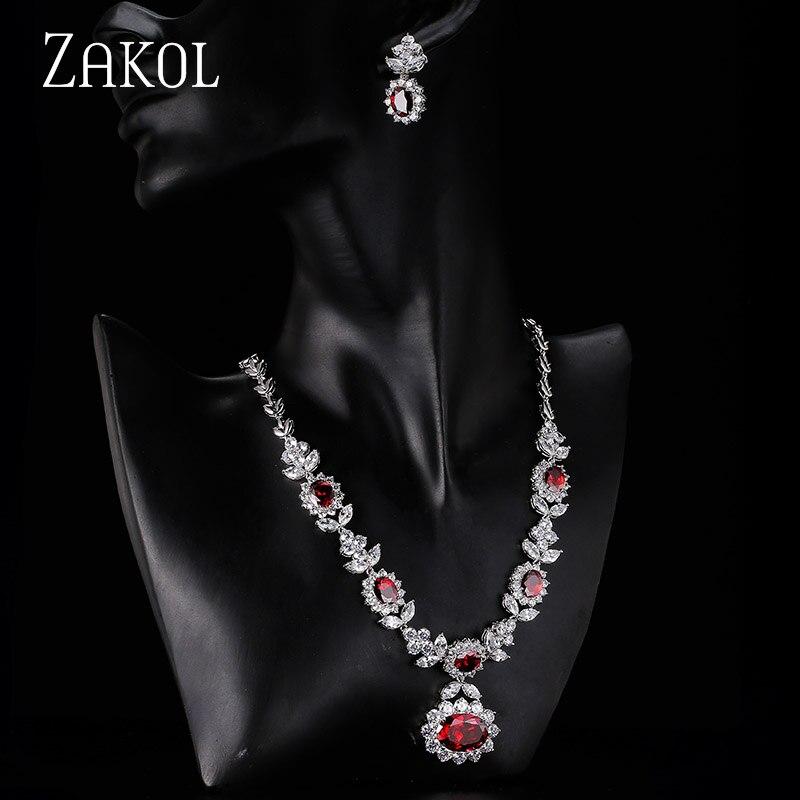 ZAKOL Luxury Sliver Color մուգ կապույտ AAA - Նորաձև զարդեր - Լուսանկար 3