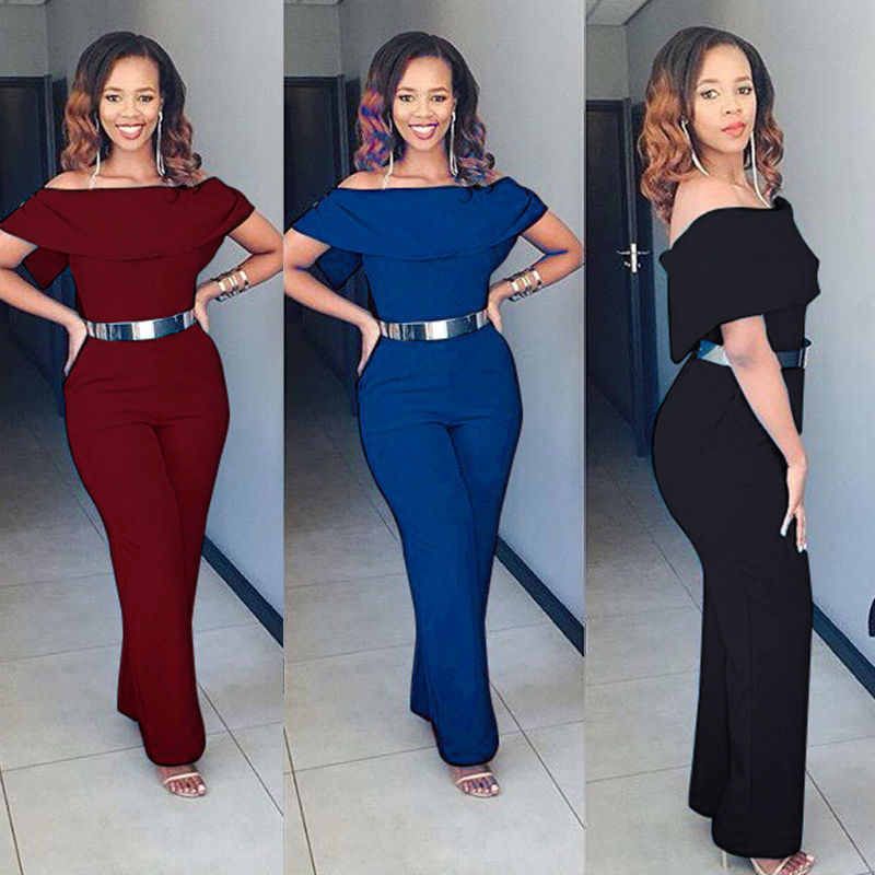 Women Ladies Clubwear Playsuit Bodycon Party Jumpsuit Romper Long Pants Trousers Lady Womens Clothing Jumpsuits Rompers