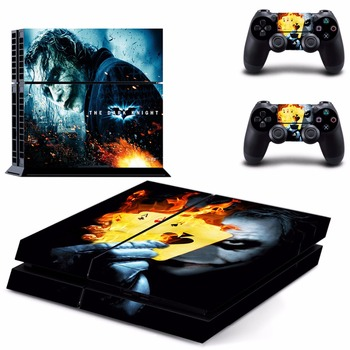 The Dark Knight PS4 Designer Skin Game Console System plus 2 Controller Decal Vinyl Protective Covers Stickers