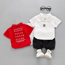 Newborn Baby Summer Casual Baby Boy Short Sleeve Cotton Shirt And Short Pant Kit Kids Toddler Two-piece Outfit Set 1-4Y famli boys summer shorts children kids boy plaid cotton short pant teenager kid casual print mid elastic beach short 4y 14y