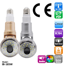 185W HD 960P Wifi Bulb IP Network Camera Wi-fi H.264 Bulb Lamp Camera Support 32G TF Card for Home Security New Suppor ONVIF