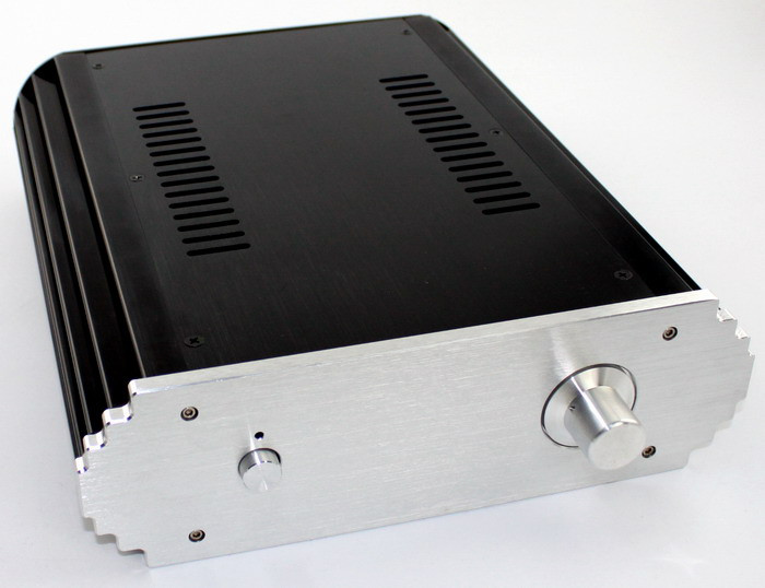 WA9 Full Aluminum Enclosure AMP Case Preamp DAC Box Chassis wa60 full aluminum amplifier enclosure mini amp case preamp box dac chassis