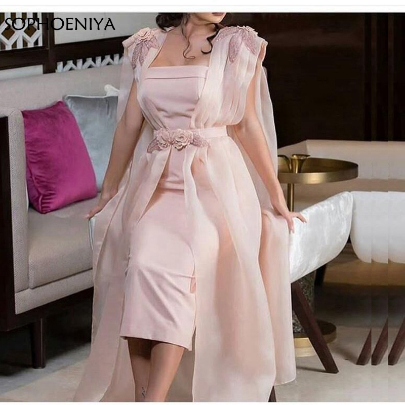 New Arrival Pink kaftan dubai   evening     dresses   2019 Beading Lace   Evening   gown Long   dress   Abiti da cerimonia da sera