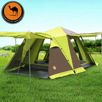Large Camping Tent 3 4 Person Automatic Tourist Tent Four door Double Layer Waterproof Snow Skirt Tents For Outdoor Recreation