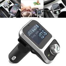 все цены на 4 In1 bluetooth car kit handsfree wireless car mp3 player fm transmitter 5V 3.1A phone car charger 1.44inch screen SD TF car онлайн