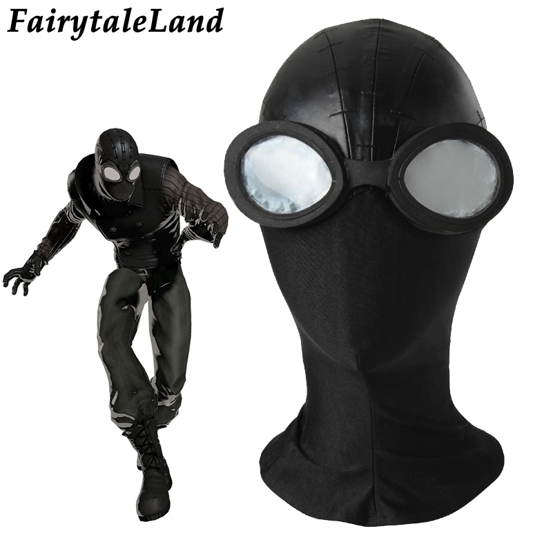Spider-man black Mask Cosplay Accessories Halloween Spider-Man Noir Mask Cosplay Spider Man hat black mask