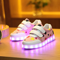 Adorável dot crianças luz shoes 2017 new arrivals usb flashing carregamento led luminoso sneaker shoes meninos meninas para crianças shoes