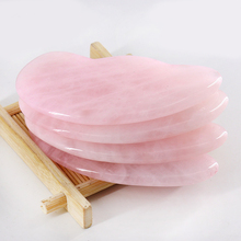 Nutral Rose Quartz Jade Stone Face Massager Guasha Board Acupuncture Gua Sha Scraping Massage Tool F