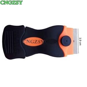 Image 4 - CNGZSY الحلاقة مكشطة استبدال شفرات السيراميك فرن الغراء ملصق مزيل سيارة التفاف منظف الزجاج نافذة التلوين أدوات 2E12 + E13