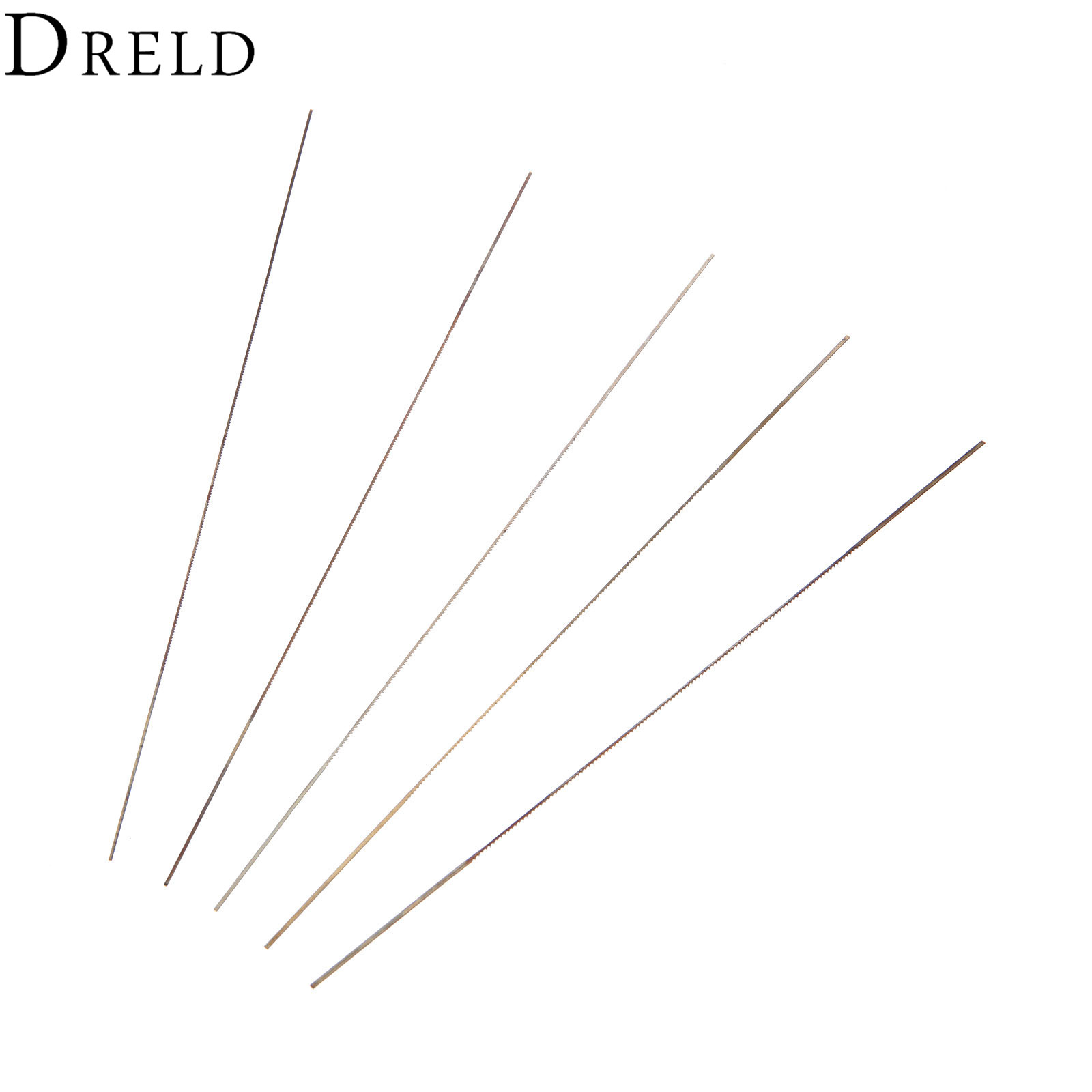 DRELD 5Pcs 130mm Scroll Saw Blades For Wood Metal Cutting 0#/1#/2#/4#/6# Fine-toothed Jig Saw Blades Woodworking Tool Power Tool