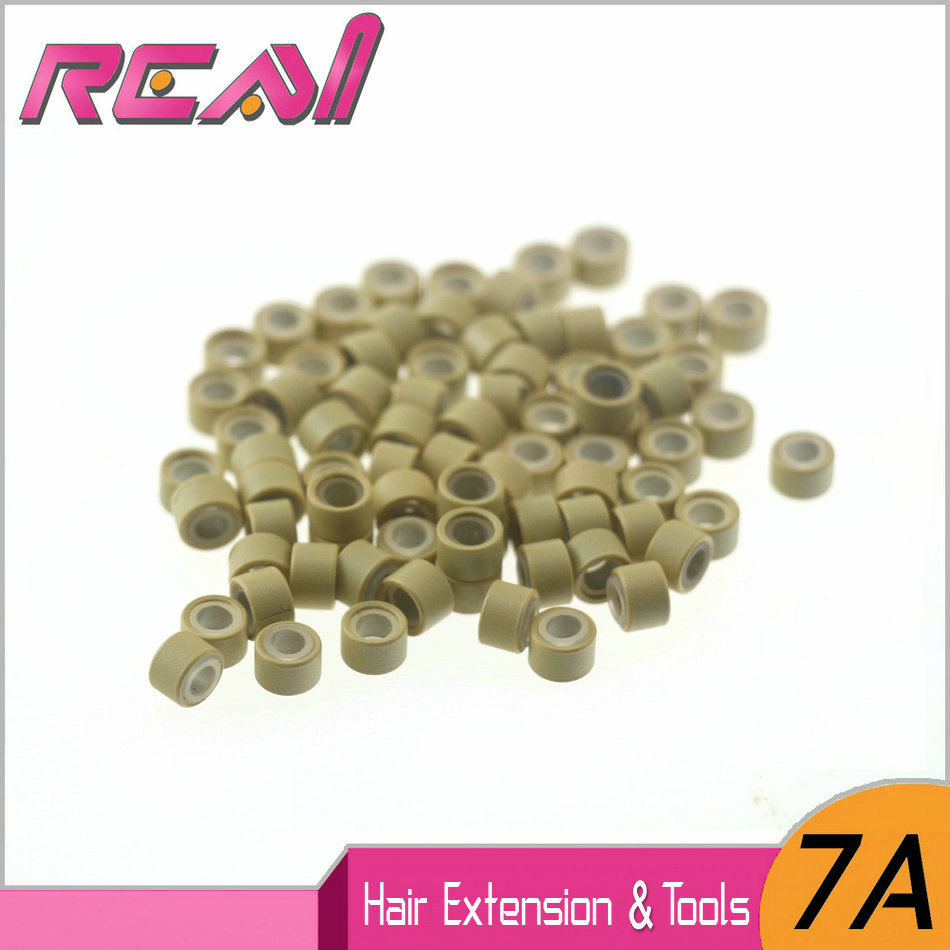 5JARS-1000pcs Aluminium Silicone Micro Rings Links Beads Locks for I Tip Hair Extensions ...
