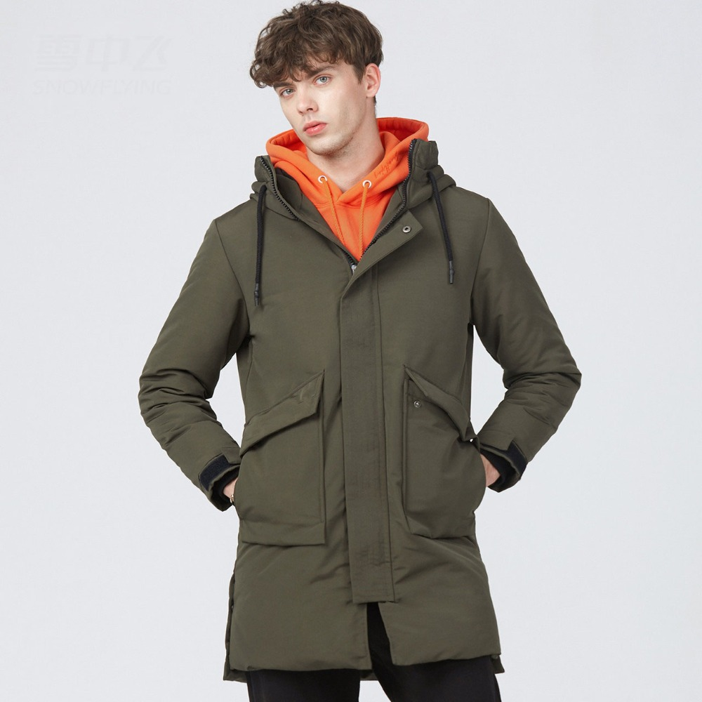 New 2019 autumn winter army green   down     coat   outerwear men hooded thickening warm   down   jacket plus size