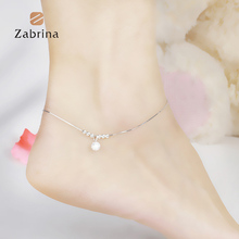 21cm+3cm famous brand Anklet Fine Jewelry Genuine 925 Sterling Silver Anklets Women Fashion Jewelry Anklet female models simple