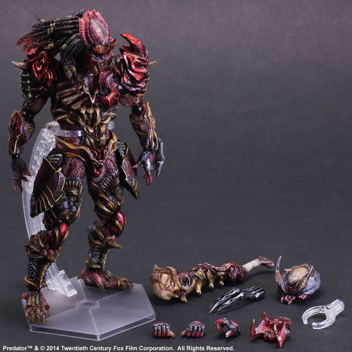 Predator Action Figure Playarts Kai Anime Toy Movie Alien Hunter Play Arts Kai Predator 270mm Collection Model model fans alien action figure playarts kai alien lurker model toy movie alien play arts figure playarts kai alien figures 26cm