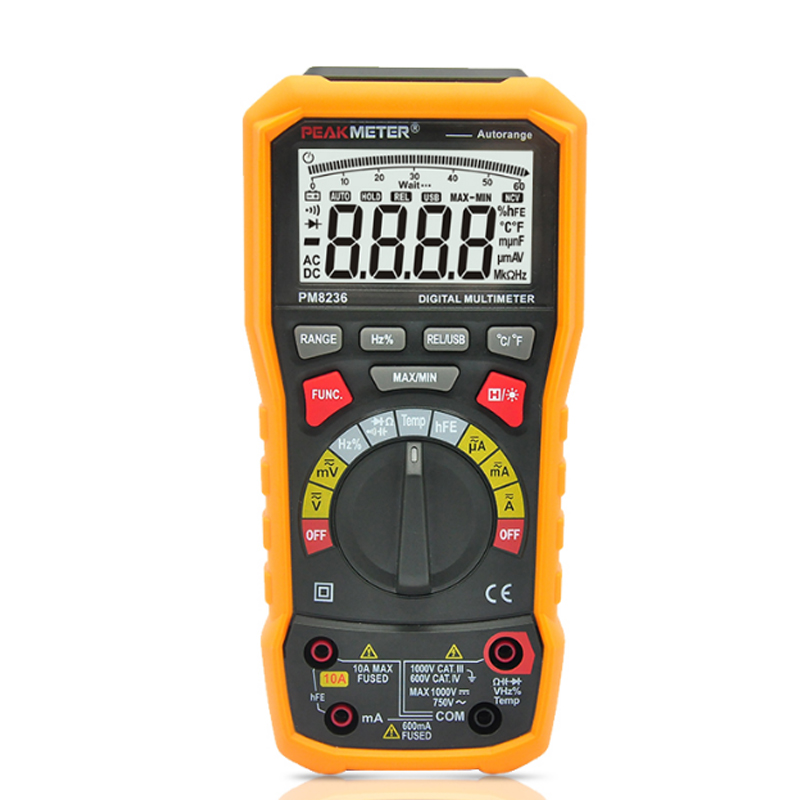 PEAKMETER PM8236 TRMS Digital Multimeter Auto/ manual Range 6000 Count AC DC Temperature Tester Analog bar Graph USB interface bichot charles edmond graph partitioning