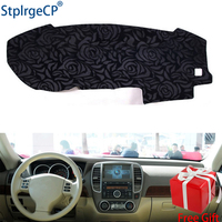 Rose Pattern Non slip Car Dashboard Cover Dash Mat Pad DashMat ANti UV Car Sticker for Nissan Sentra nismo Sylphy 2006 2007 2011