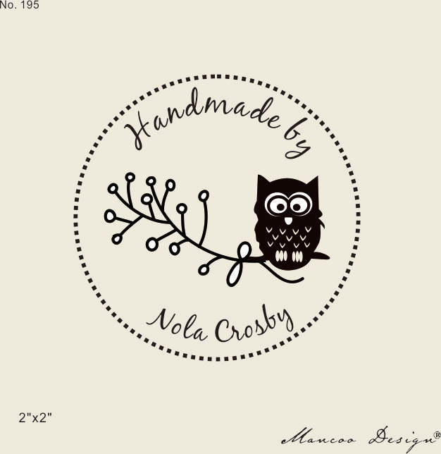 2015 Hot Sale Cute Owl Rubber Stamp Custom 2 X2 Personalized Handmade By In Stamps From Home Garden On Aliexpress