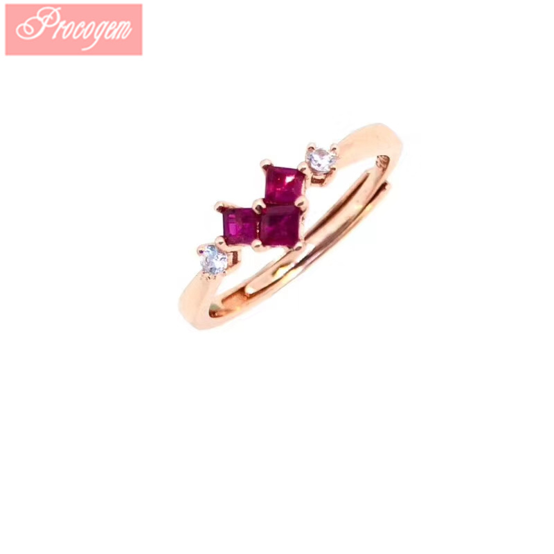 Natural Lovely Ruby Rings for Women Ladies Engagement 2.5mmx3 Red Genuine Gems 925 Sterling silver 2019 New fine Jewelry #205Natural Lovely Ruby Rings for Women Ladies Engagement 2.5mmx3 Red Genuine Gems 925 Sterling silver 2019 New fine Jewelry #205