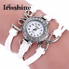 Irisshine i0700 Горячие Продаж Подлинного женского Леди подарок Девушка часы Duoya Femmes Режим Повседневная Браслет Ан Cuir Montre-браслет часы
