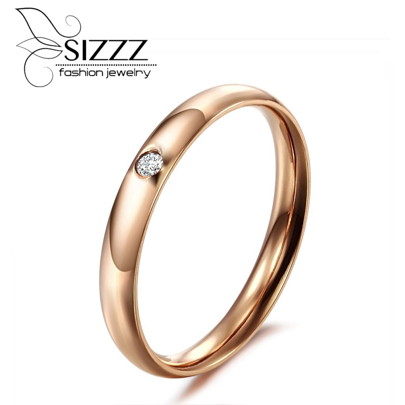 SIZZZ 3mm wide 3g weight new jewelry lady plated rose gold