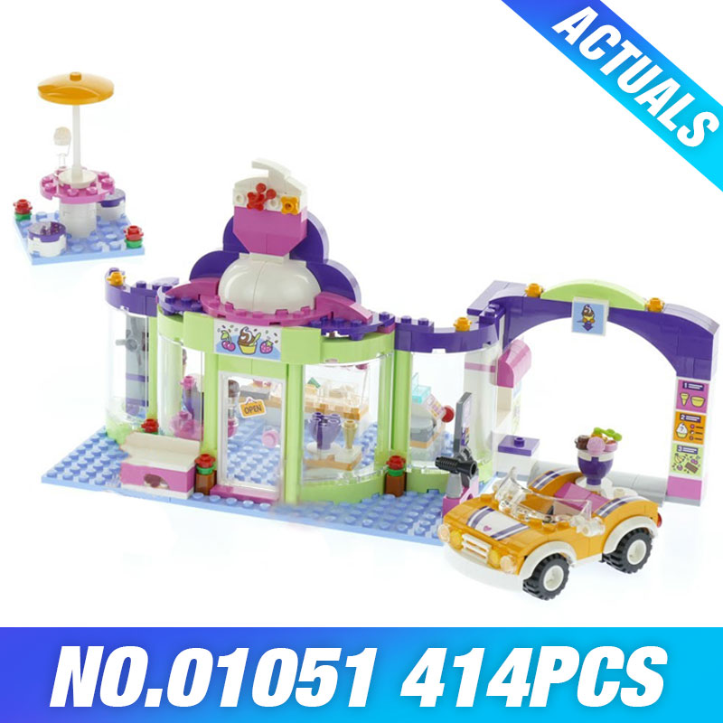 Lepin 01051 The Heartlake Yogurt Ice-cream Shop Set Genuine Girl Series New Year Gifts Christmas Children Funny Kid Toys Model the ice diet
