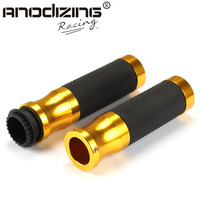 22mm Universal Motorcycle Handle bar / Handlebar Grips leather and aluminum Material
