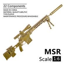 Gun-Assembly Model Building-Bricks MSR Action-Figures Modular Rifle Sniper Remington