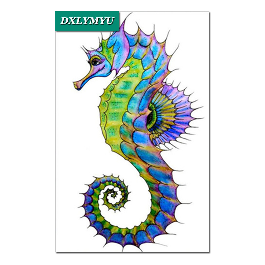 Diamond Mosaic Full Diamond Embroidery Color Seahorse 5d Diy Diamond Painting Cross Stitch Crystal Sets Unfinished Home Decor Diamond Painting Cross Stitch Aliexpress