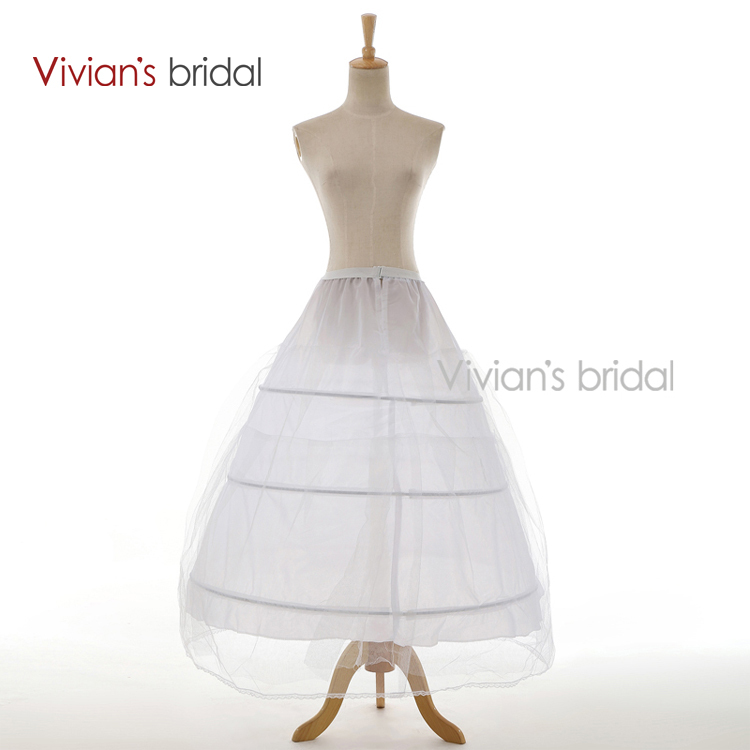 Vivians bridal 3 hoop free shipping underskirt bridal for Wedding dress hoops for sale