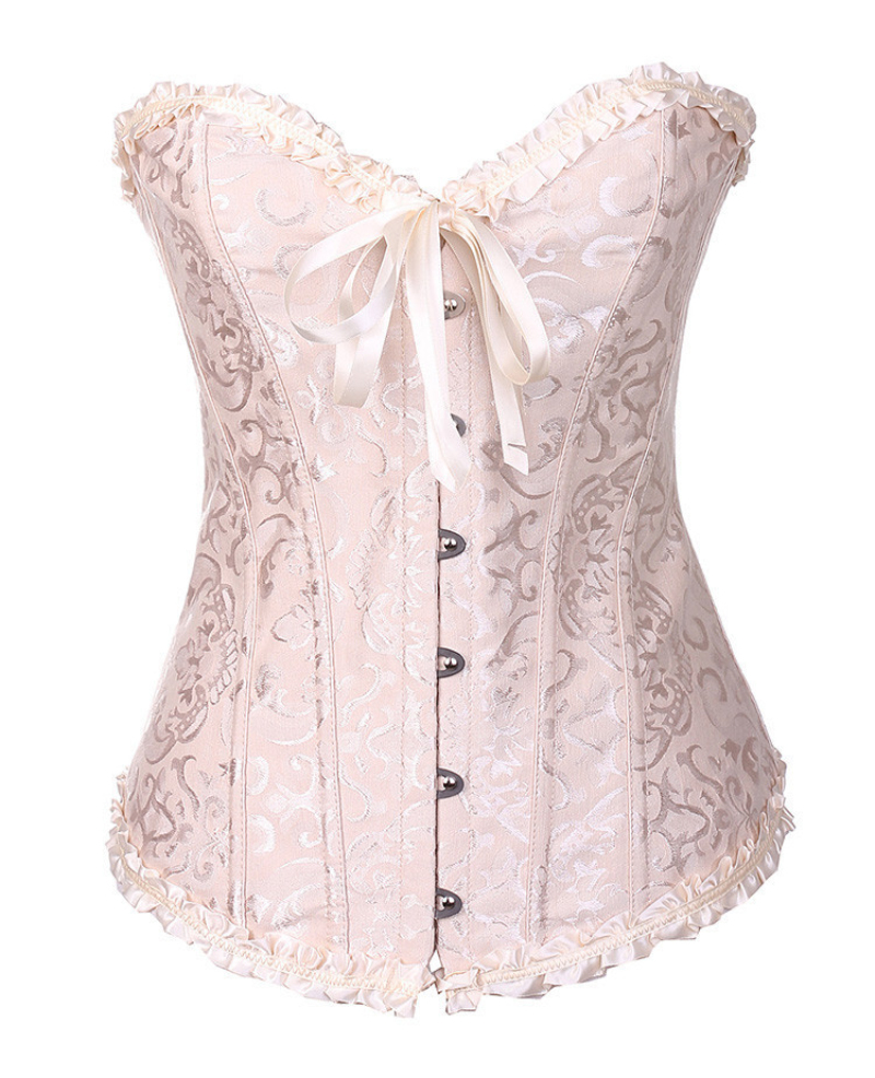 2018 New Fashion sexy Lace corselet Up Overbust Sexy Corset Top Bustier Wedding Bridal Corset Plus Size S-XXL