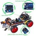 Kit SunFounder Smart Car para Arduino uno R3 Diy Electrónica Evitando Obstáculos Trazando Luz Buscando Robot Kits de Color Claro
