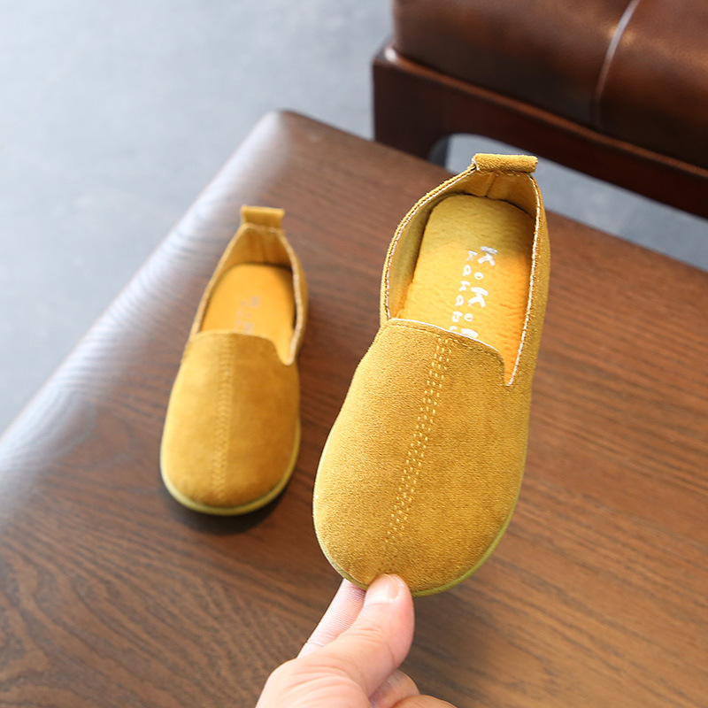 AFDSWG spring and autumn artificial leather leather shoes kids yellow shoes for girl princess red leather shoes children