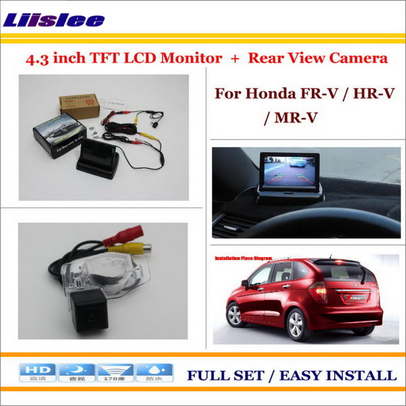 Liislee For Honda FR-V / HR-V / MR-V In Car 4.3 Color LCD Monitor + Car Rear Back Up Camera = 2 in 1 Park Parking System freies verschiffen doppel kanal schleifendetektor fur parkmanagement und mautsystem 220 v 110 v 12 v 24 v parking system page 4