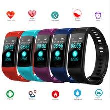 Y5 Bluetooth Смарт с ЧСС трекер Фитнес трекер умный Браслет Цвет Экран Водонепроницаемый смарт-браслет Miband 2