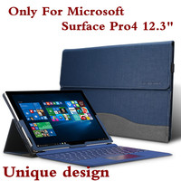 New Design High Quality Tablet Case For Microsoft Surface Pro 4 12 3 Premium PU Leather