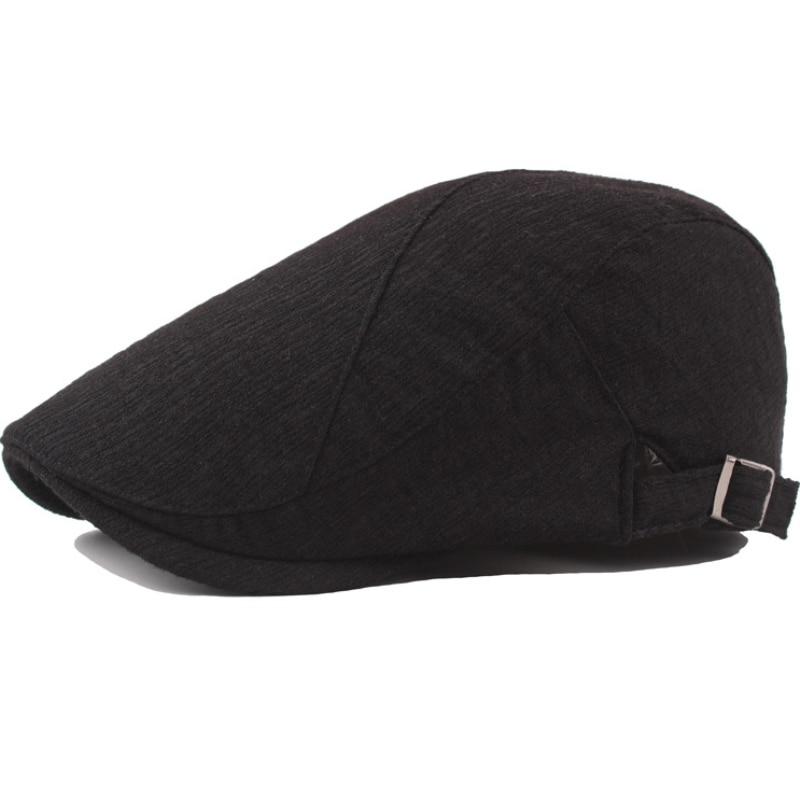 Vintage Cotton Linen Flat Cap 9