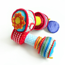 Baby Playpen Rattles Toys 0-12 Month Hand Bells Multifunctional Baby Dumbbell Barbell Plush Education Toys For Children T039 -30