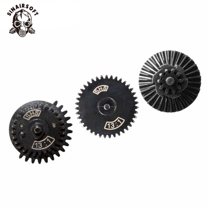 Hot SHS High Quality 13:1 Ultra-high Speed Gear Set Fit AEG Airsoft Ver.2/3 Gearbox For Hunting Paintball Shooting Accessories